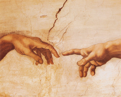 The Creation of Adam by Michelangelo, Intentional Insights, Soul Intent Arts
