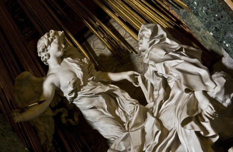 The Ecstasy of St. Teresa of Avila, by Giovanni Lorenzo Bernini, 1652, in the Church of Santa Maria della Vittoria, Rome, Italy Photo by LawrenceOP