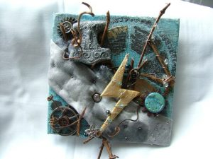 Divine Plan - Thurisaz Runic art by Kelley Harrell, Soul Intent Arts, on Etsy