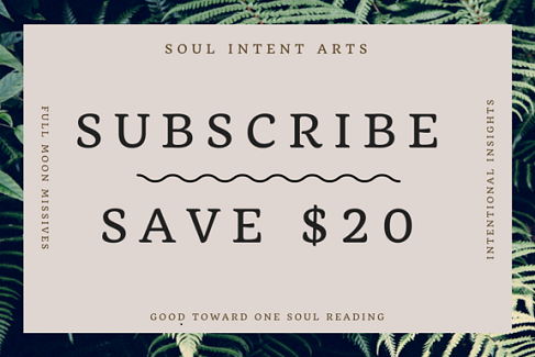 Subscribe and get $20 off one Soul Reading, Kelley Harrell, Soul Intent Arts