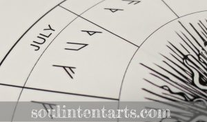 The Runic Calendar - July - by S. Kelley Harrell, Soul Intent Arts
