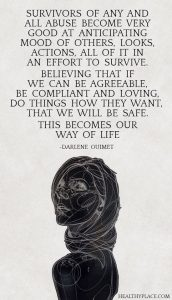 What It Is Wednesday - dissociation - quote by Darlene Ouimet, Soul Intent Arts