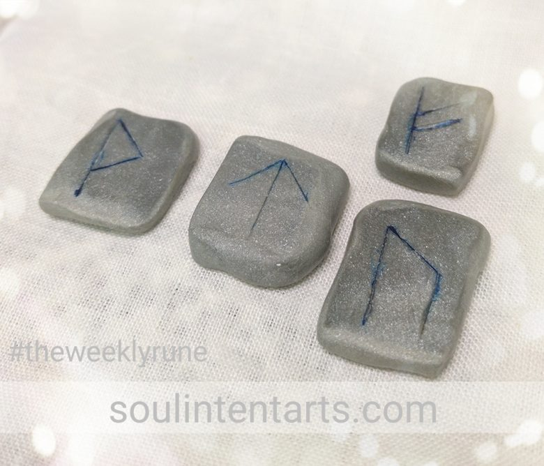 The Weekly Rune, cast for 16 July 2017 on Intentional Insights- by S. Kelley Harrell, Soul Intent Arts #theweeklyrune