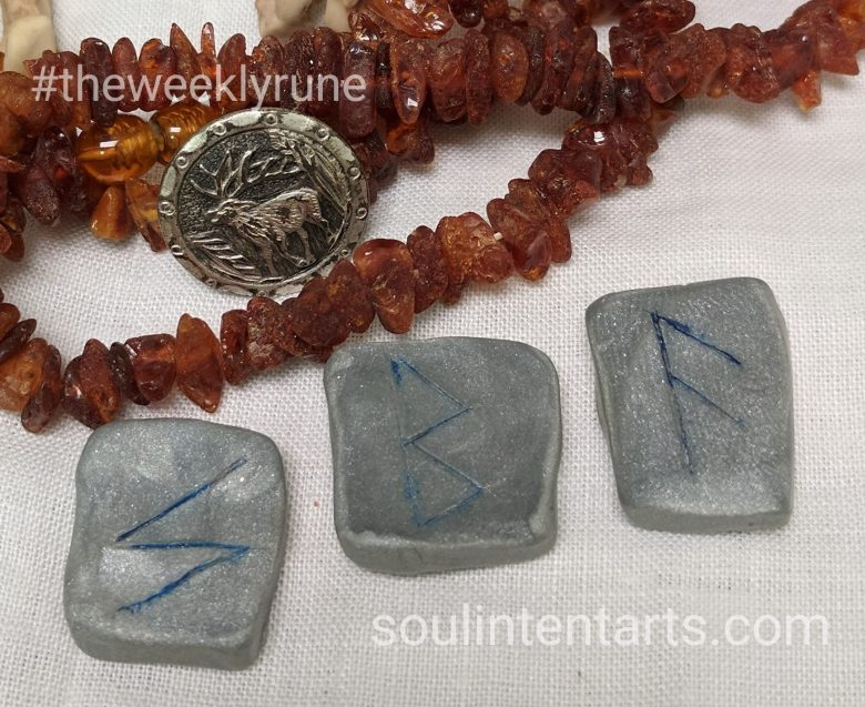 The Weekly Rune, cast for 20 August 2017 on Intentional Insights- by S. Kelley Harrell, Soul Intent Arts #theweeklyrune