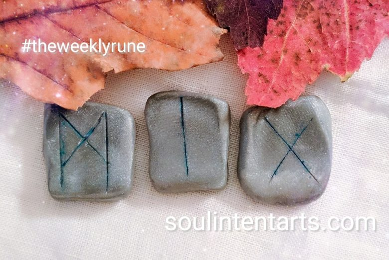 The Weekly Rune, cast for 8 October 2017 on Intentional Insights- by S. Kelley Harrell, Soul Intent Arts #theweeklyrune