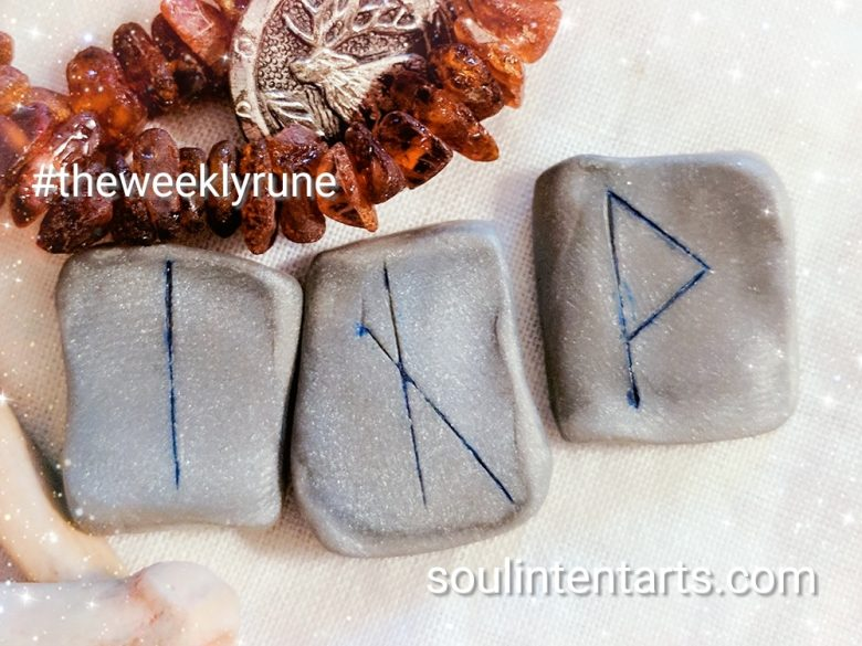 The Weekly Rune, cast for 15 October 2017 on Intentional Insights- by S. Kelley Harrell, Soul Intent Arts #theweeklyrune