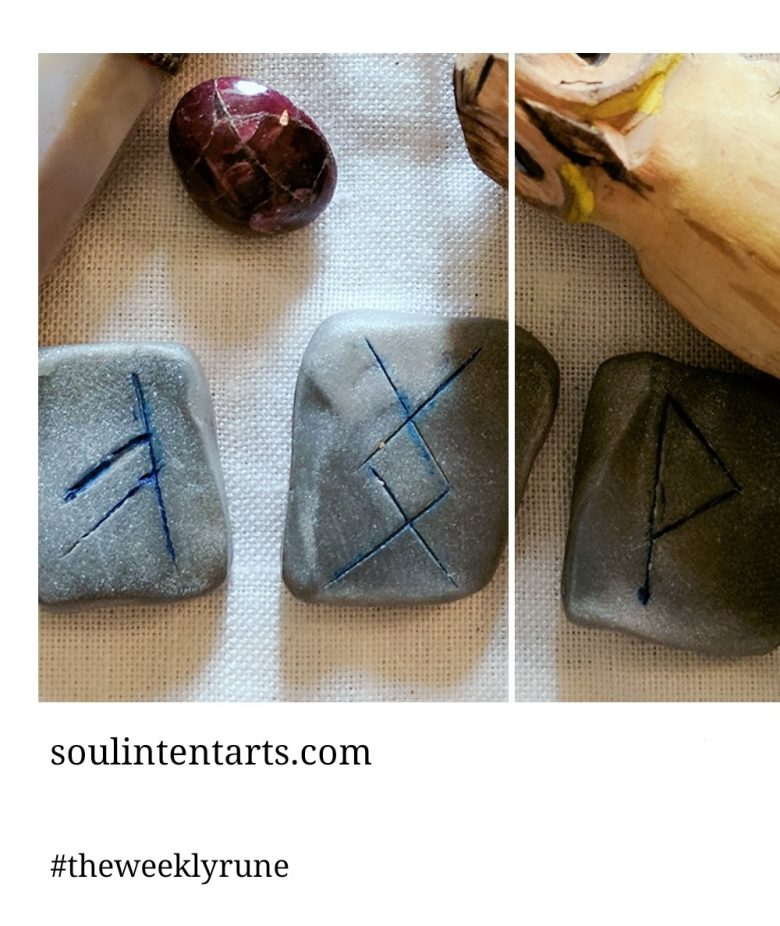 The Weekly Rune, cast for 22 October 2017 on Intentional Insights- by S. Kelley Harrell, Soul Intent Arts #theweeklyrune