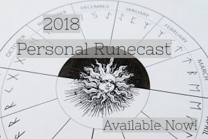 2018 Personal Runecast by Kelley Harrell, Soul Intent Arts