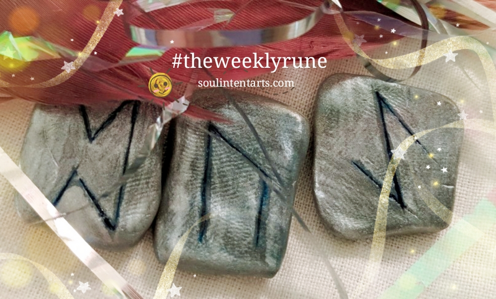 The Weekly Rune, cast for 31 December 2017 on Intentional Insights- by S. Kelley Harrell, Soul Intent Arts #theweeklyrune