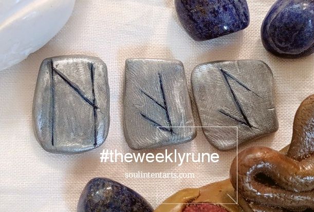 The Weekly Rune, cast for 7 January 2018 on Intentional Insights- by S. Kelley Harrell, Soul Intent Arts #theweeklyrune