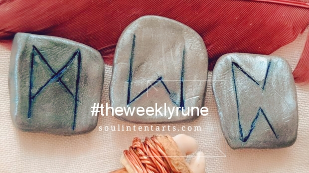 The Weekly Rune, cast for 21 January 2018 on Intentional Insights- by S. Kelley Harrell, Soul Intent Arts #theweeklyrune