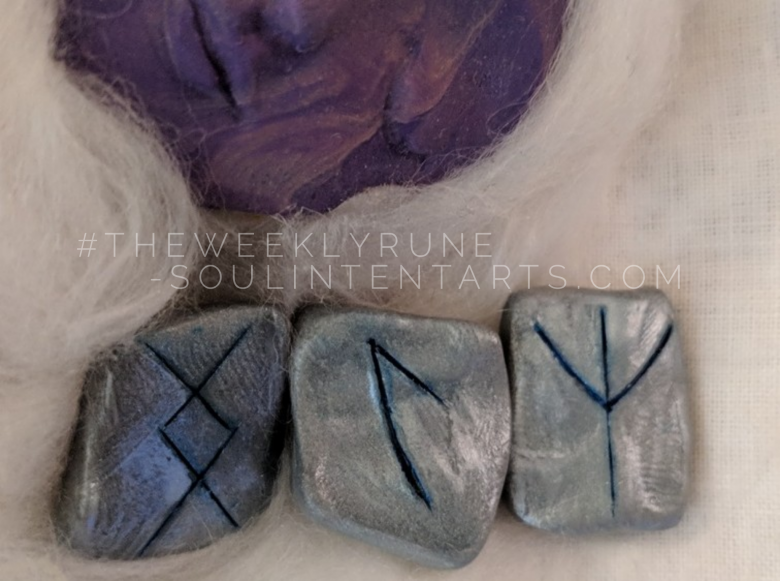 The Weekly Rune, cast for 4 February 2018 on Intentional Insights- by S. Kelley Harrell, Soul Intent Arts #theweeklyrune