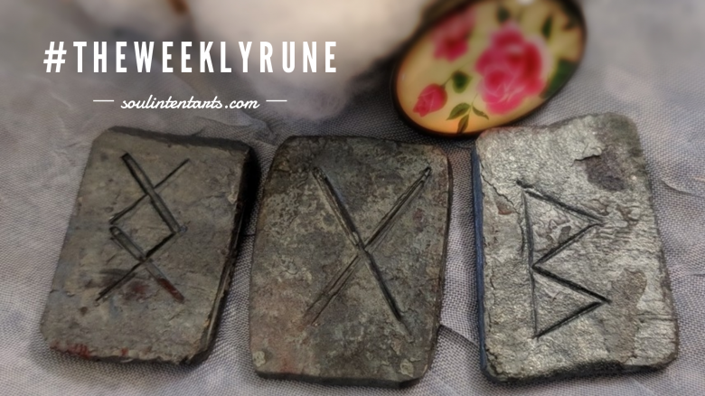 The Weekly Rune, cast for 11 March 2018 on Intentional Insights- by S. Kelley Harrell, Soul Intent Arts #theweeklyrune
