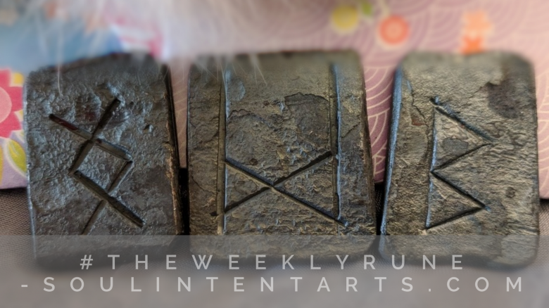 The Weekly Rune, cast for 18 March 2018 on Intentional Insights- by S. Kelley Harrell, Soul Intent Arts #theweeklyrune