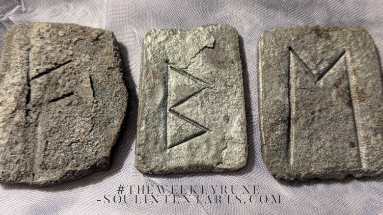 The Weekly Rune, cast for 1 April 2018 on Intentional Insights- by S. Kelley Harrell, Soul Intent Arts #theweeklyrune
