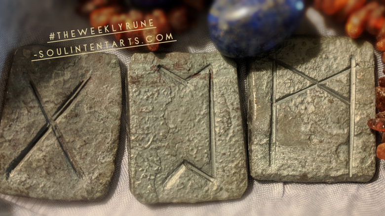 The Weekly Rune, cast for 15 April 2018 on Intentional Insights- by S. Kelley Harrell, Soul Intent Arts #theweeklyrune
