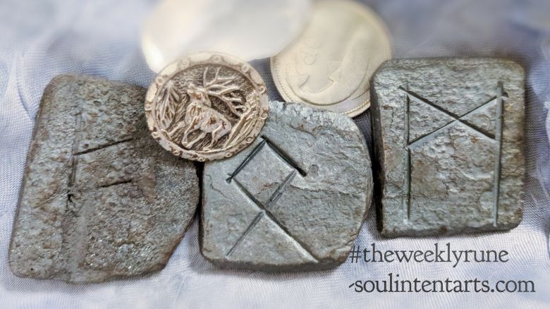 The Weekly Rune, cast for 22 April 2018 on Intentional Insights- by S. Kelley Harrell, Soul Intent Arts #theweeklyrune