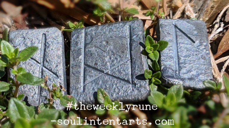 The Weekly Rune, cast for 29 April 2018 on Intentional Insights- by S. Kelley Harrell, Soul Intent Arts #theweeklyrune
