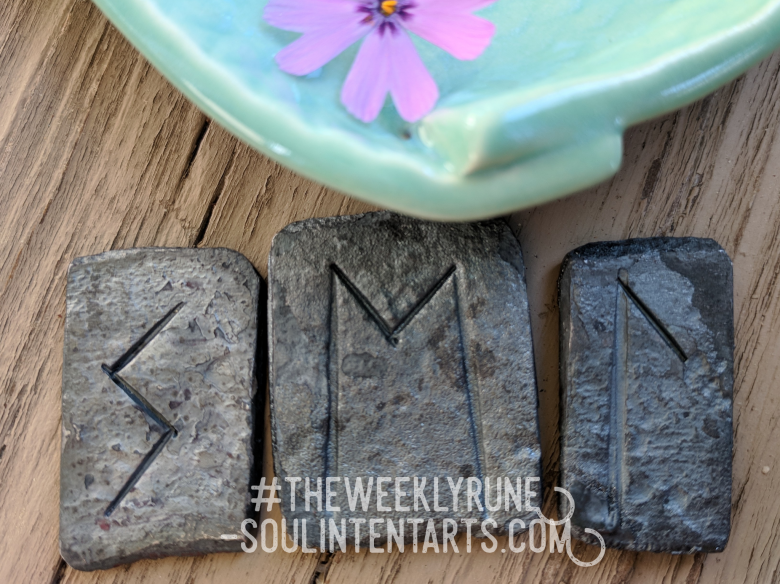 The Weekly Rune, cast for 6 May 2018 on Intentional Insights- by S. Kelley Harrell, Soul Intent Arts #theweeklyrune