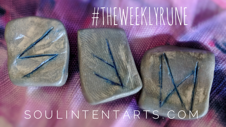 The Weekly Rune, cast for 17 June 2018 on Intentional Insights- by S. Kelley Harrell, Soul Intent Arts #theweeklyrune