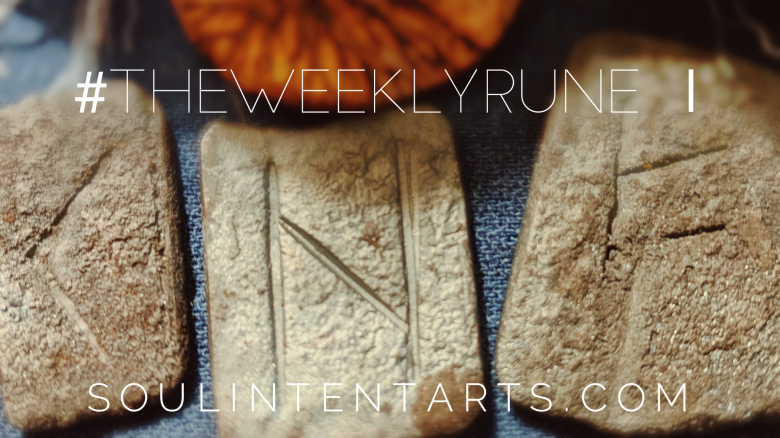 The Weekly Rune, cast for 8 July 2018 on Intentional Insights- by S. Kelley Harrell, Soul Intent Arts #theweeklyrune