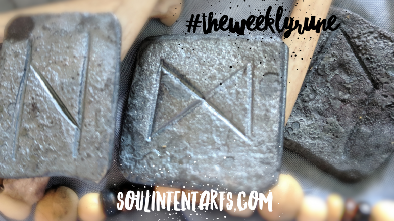 The Weekly Rune, cast for 15 July 2018 on Intentional Insights- by S. Kelley Harrell, Soul Intent Arts #theweeklyrune