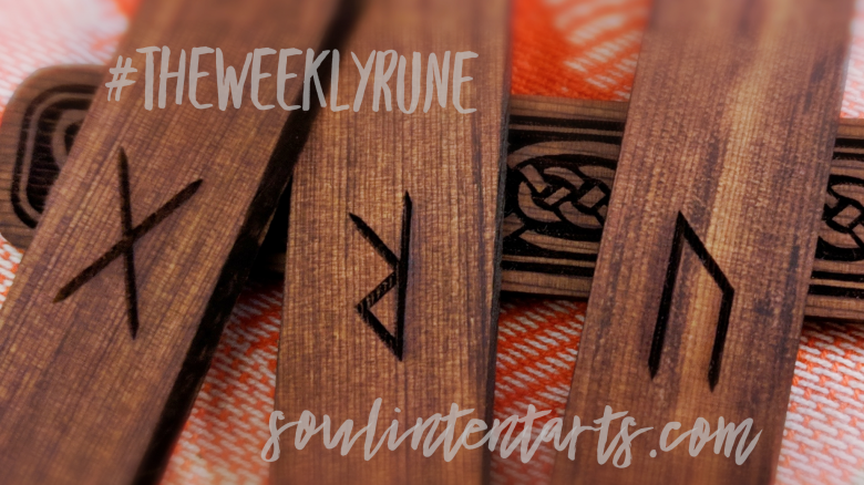 The Weekly Rune, cast for 22 July 2018 on Intentional Insights- by S. Kelley Harrell, Soul Intent Arts #theweeklyrune