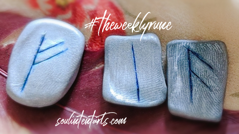 The Weekly Rune, cast for August 12 2018 on Intentional Insights- by S. Kelley Harrell, Soul Intent Arts #theweeklyrune