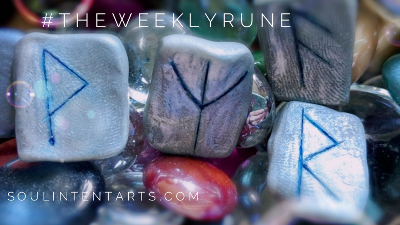 The Weekly Rune, cast for August 26 2018 on Intentional Insights- by S. Kelley Harrell, Soul Intent Arts #theweeklyrune