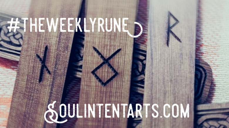 The Weekly Rune, cast for 9 September 2018 on Intentional Insights- by S. Kelley Harrell, Soul Intent Arts #theweeklyrune