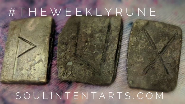 The Weekly Rune, cast for 30 September 2018 on Intentional Insights- by S. Kelley Harrell, Soul Intent Arts #theweeklyrune