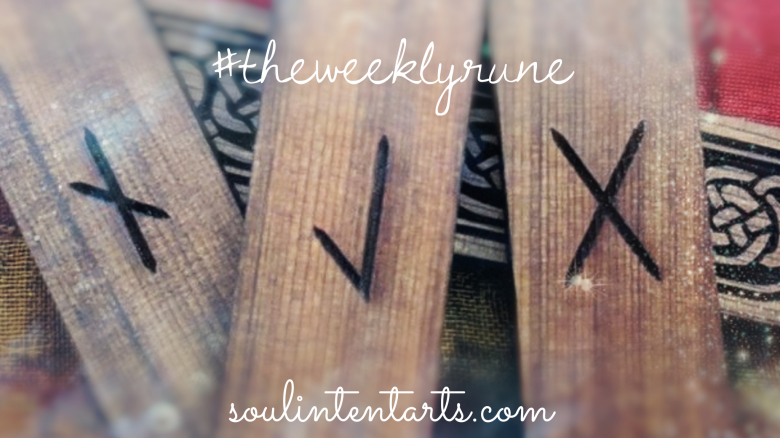 The Weekly Rune, cast for 7 October 2018 on Intentional Insights- by S. Kelley Harrell, Soul Intent Arts #theweeklyrune