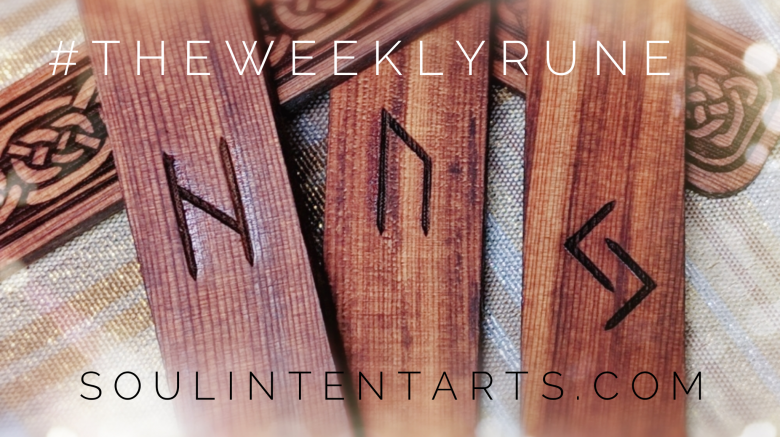 The Weekly Rune, cast for 23 December 2018 on Intentional Insights- by S. Kelley Harrell, Soul Intent Arts #theweeklyrune