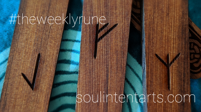 The Weekly Rune, cast for 27 January 2019 on Intentional Insights- by S. Kelley Harrell, Soul Intent Arts #theweeklyrune