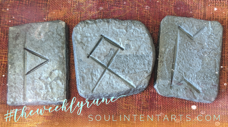 The Weekly Rune, cast for 20 January 2019 on Intentional Insights- by S. Kelley Harrell, Soul Intent Arts #theweeklyrune