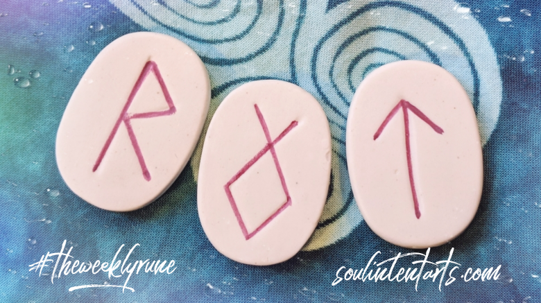 The Weekly Rune, cast for 11 March 2019 on Intentional Insights- by S. Kelley Harrell, Soul Intent Arts #theweeklyrune
