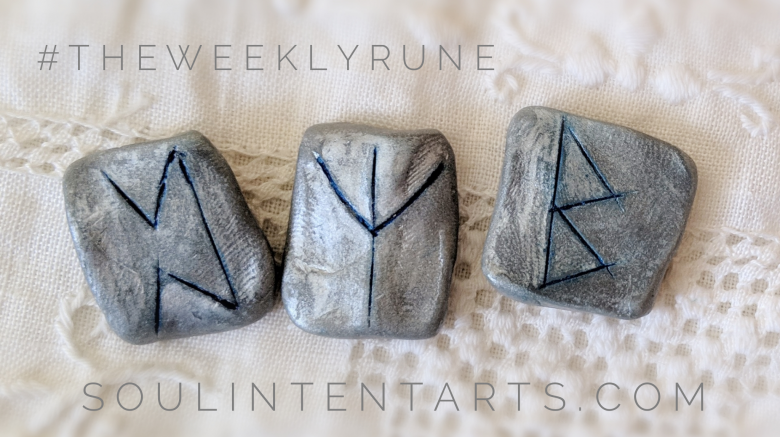 The Weekly Rune, cast for 24 March 2019 on Intentional Insights- by S. Kelley Harrell, Soul Intent Arts #theweeklyrune