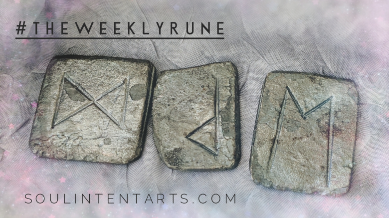 The Weekly Rune, cast for 31 March 2019 on Intentional Insights- by S. Kelley Harrell, Soul Intent Arts #theweeklyrune