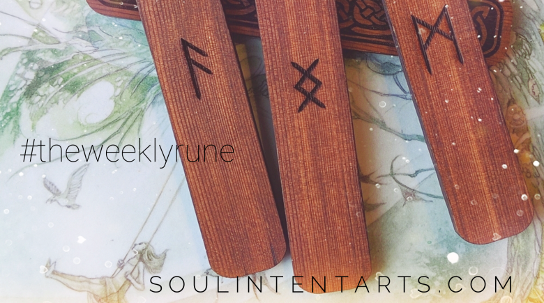The Weekly Rune, cast for 14 April 2019 on Intentional Insights- by S. Kelley Harrell, Soul Intent Arts #theweeklyrune