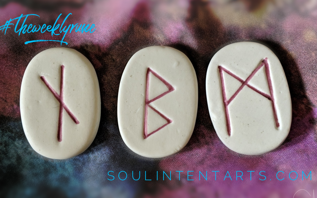 The Weekly Rune, cast for 21 April 2019 on Intentional Insights- by S. Kelley Harrell, Soul Intent Arts #theweeklyrune