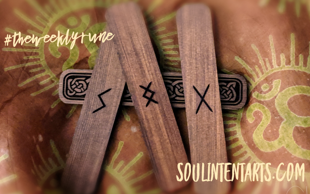 The Weekly Rune, cast for 6 October 2019 on Intentional Insights- by S. Kelley Harrell, Soul Intent Arts #theweeklyrune