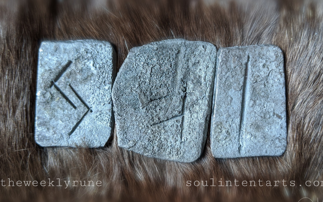 The Weekly Rune, cast for 1 December 2019 on Intentional Insights- by S. Kelley Harrell, Soul Intent Arts #theweeklyrune
